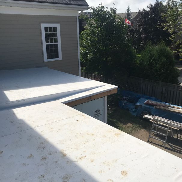 Residential Flat Roof, Waterdown, Fully-adhered TPO