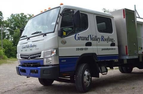 Grand Valley Roofing Truck