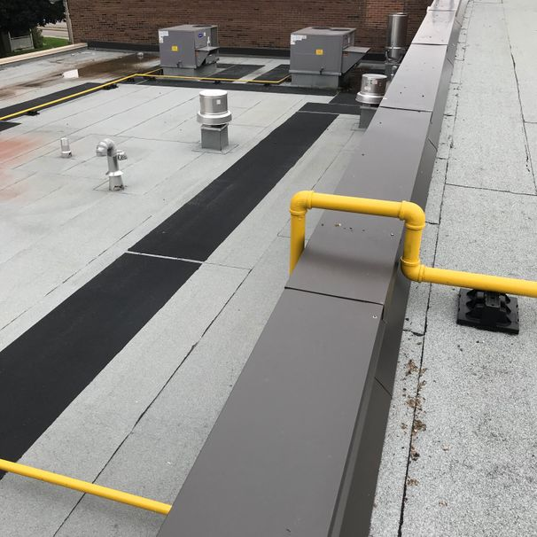 Canadian Construction Ltd., Falstaff Community Centre, Toronto, Hot and Cold Modified Bitumen