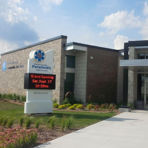 Perth County EMS, Stratford - Tying in two different roof elevations