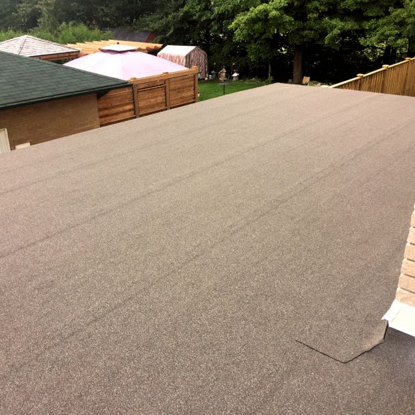 Residential Flat Roof, Cambridge, Peel & Stick, Self-adhesive Cap BUR